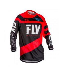 Camiseta FLY F-16 Offroad Moto – Preta +vermelho