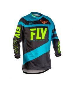 Camiseta FLY F-16 Offroad Moto – Azul + Preto