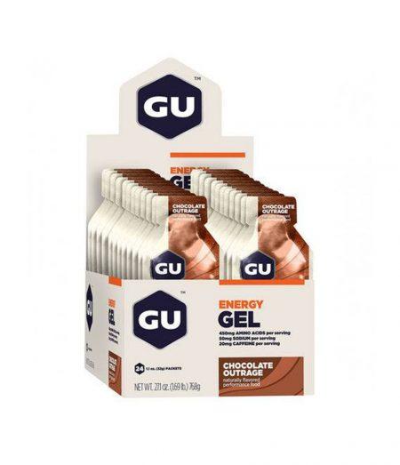 Gu Energy Gel Chocolate – Caixa Com 24 Sachês 32g-Validade MAIO/2021