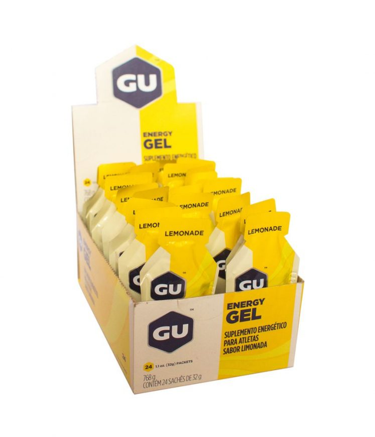 Gu Energy Gel Lima Limão – Caixa Com 24 Sachês 32g-VALIDADE maio 2021