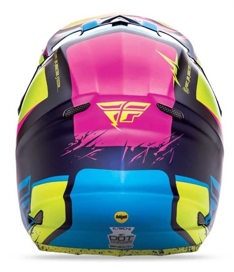Capacete Fly F2 Carbon Retrospec Mips offroad – PINK/AM FLUOR/AZUL