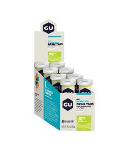 Gu Energy Tab Hidratação Sabor Lima Limão – Caixa C/ 8Tubos c/12unidades=Validade Março/2021