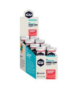 Gu Energy Tab Hidratação Sabor Morango *Caixa C/ 8 Tubos C/ 12 Unidades-Validade Março/2021
