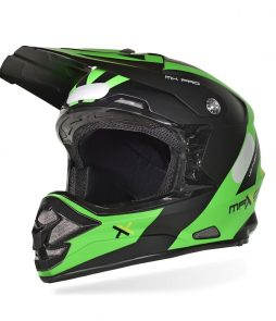 Capacete Mattos Racing MX Pro – Verde Fosco/Preto