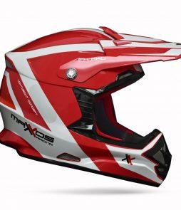 Capacete Mattos Racing MX PRO -Branco/Vermelho