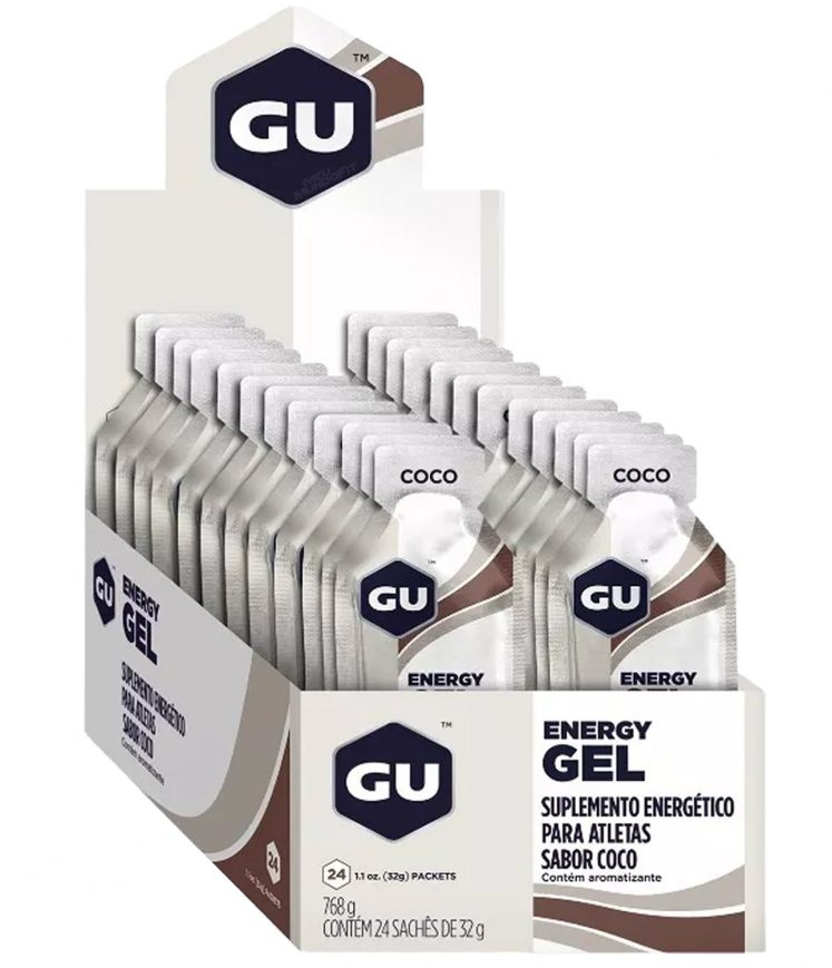 Gel Gu Energy Sabor Coco – Caixa Com 24 Sachês 32g